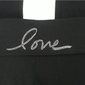 """Victorias Secret """"LOVE"""" BLINGED Fold-Over Leggings"""